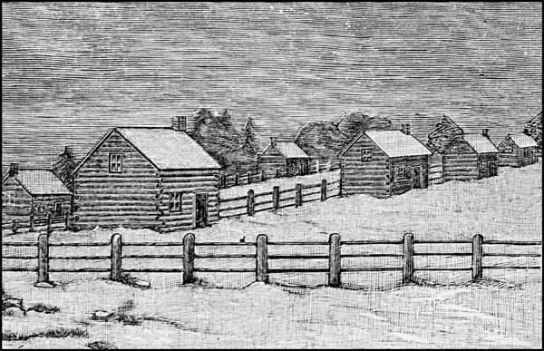 Etching of Mississauga Credit Mission