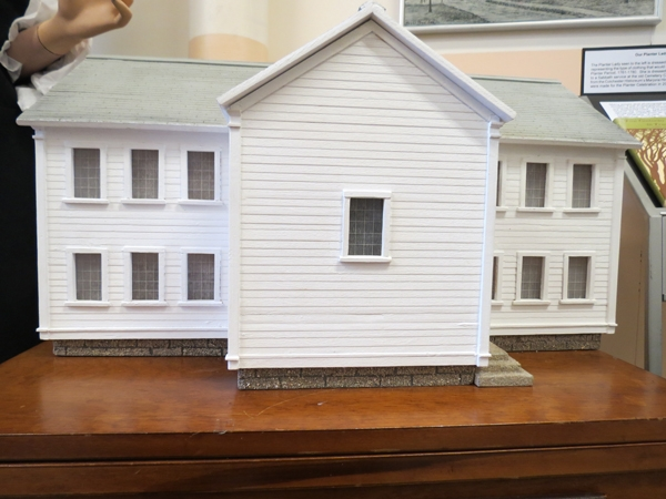 Model showing from of First Presbyterian Church, Truro, Nova Scotia.