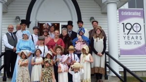 Group of people at Keswick Ridge United Church.